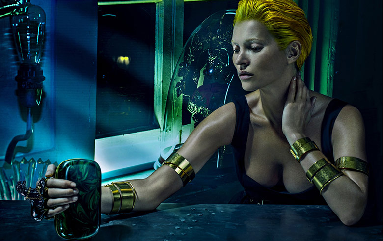 Photo Kate Moss for Alexander McQueen Spring/Summer 2014 Campaign