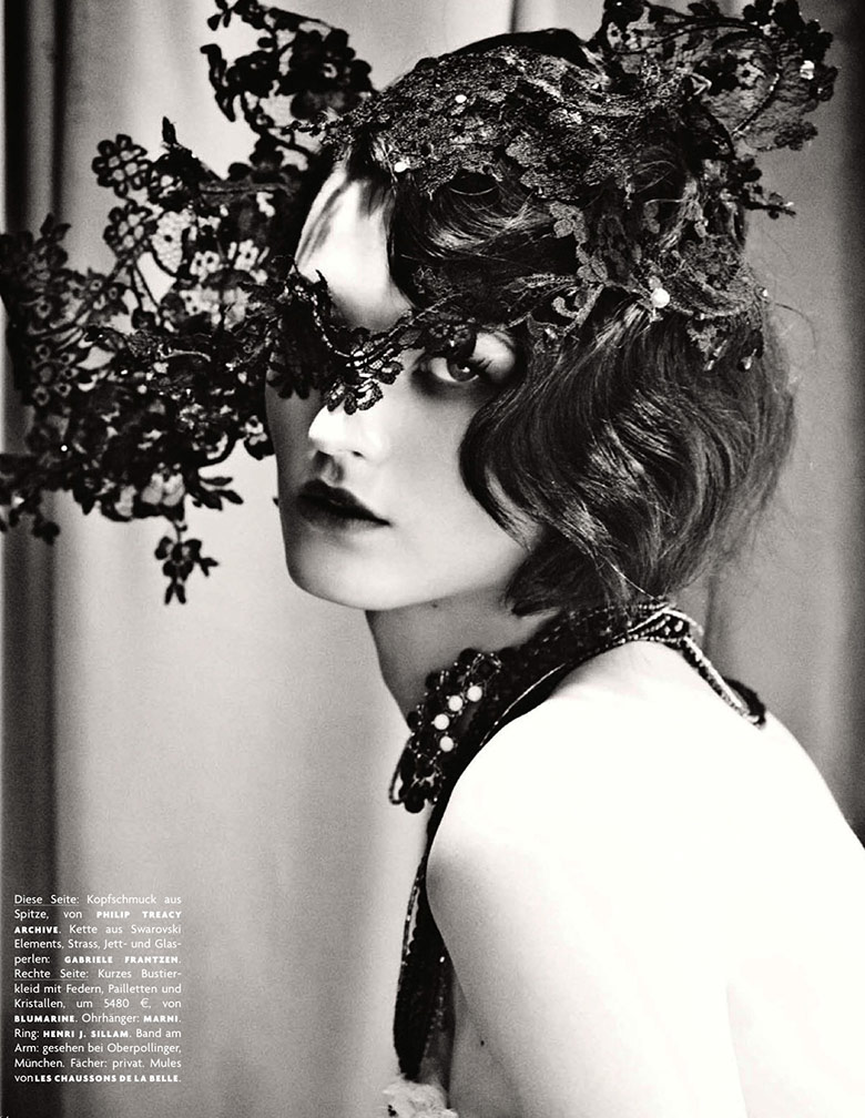Photo Katlin Aas by Giampaolo Sgura for Vogue Germany February 2014