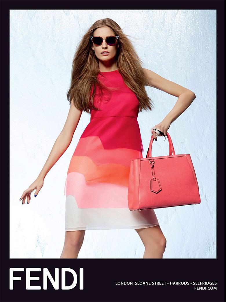 Photo Nadja Bender by Karl Lagerfeld for Fendi Spring/Summer 2014 Campaign