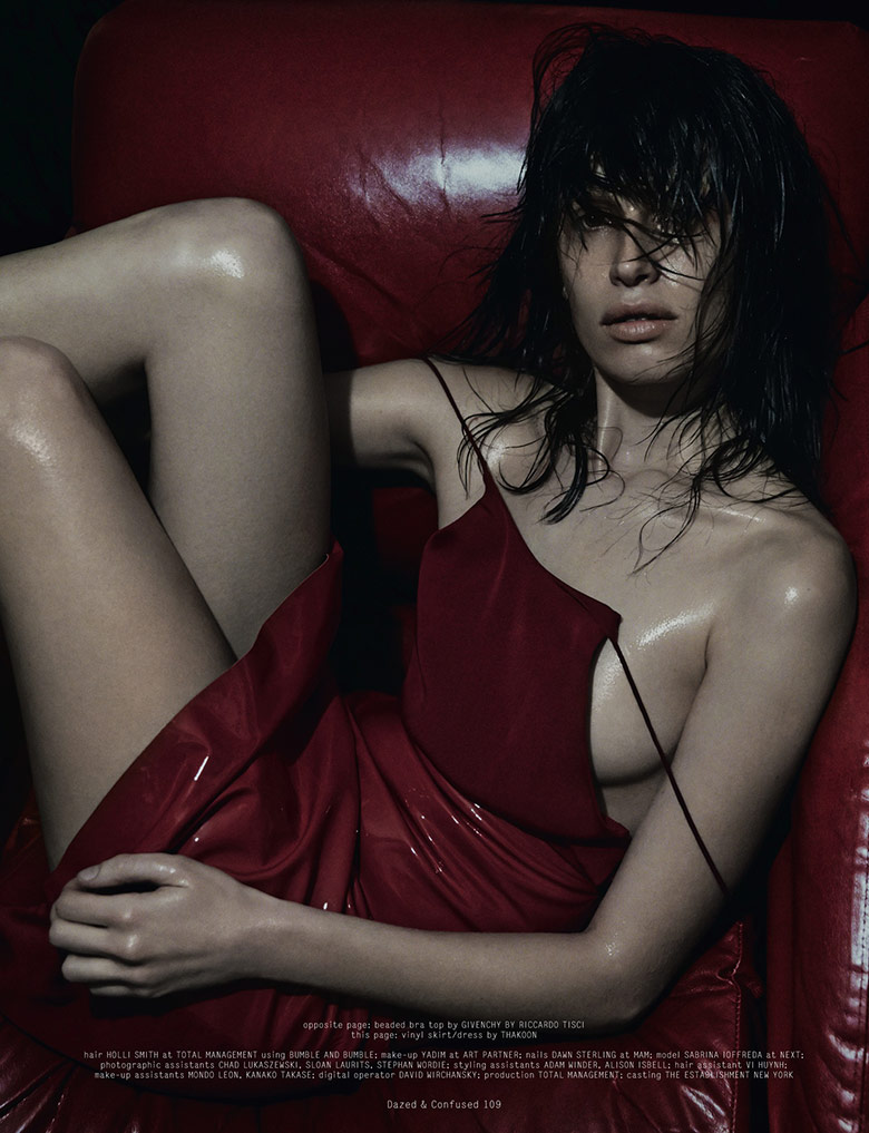 Photo Sabrina Ioffreda by Terry Tsiolis for Dazed & Confused February 2014