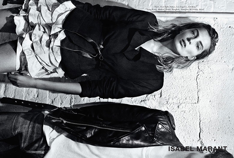 Photo Daria Werbowy for Isabel Marant Spring/Summer 2014 Campaign