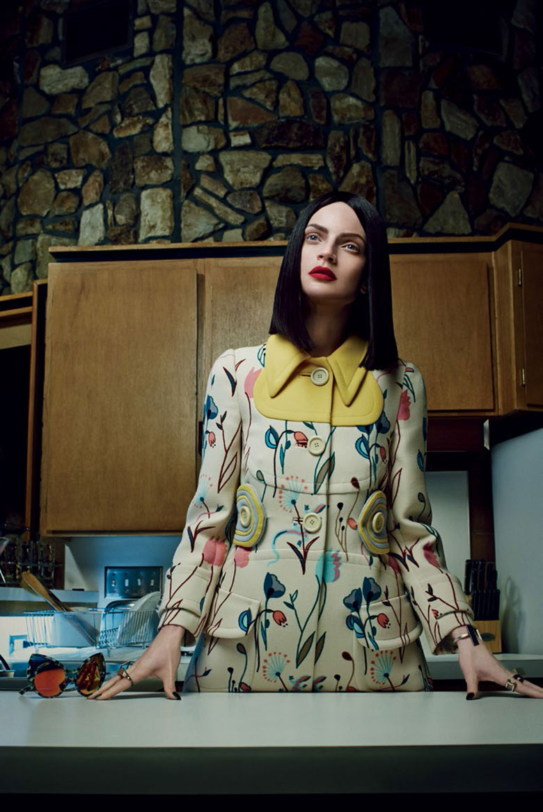 Photo Guinevere Van Seenus by Emma Summerton for Vogue Italia February 2014
