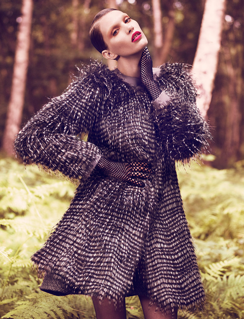 Photo Irina Nikolaeva by Jens Langkjaer for Exit Magazine Spring/Summer 2014