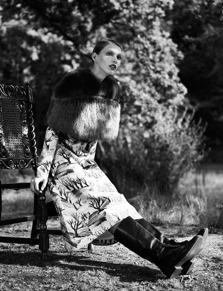 Photo Irina Nikolaeva by Jens Langkjaer for Exit Magazine Spring/Summer 2014