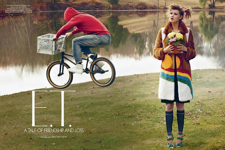 Photo Lindsey Wixson & Magda Laguinge by Sebastian Faena for CR Fashion Book 4