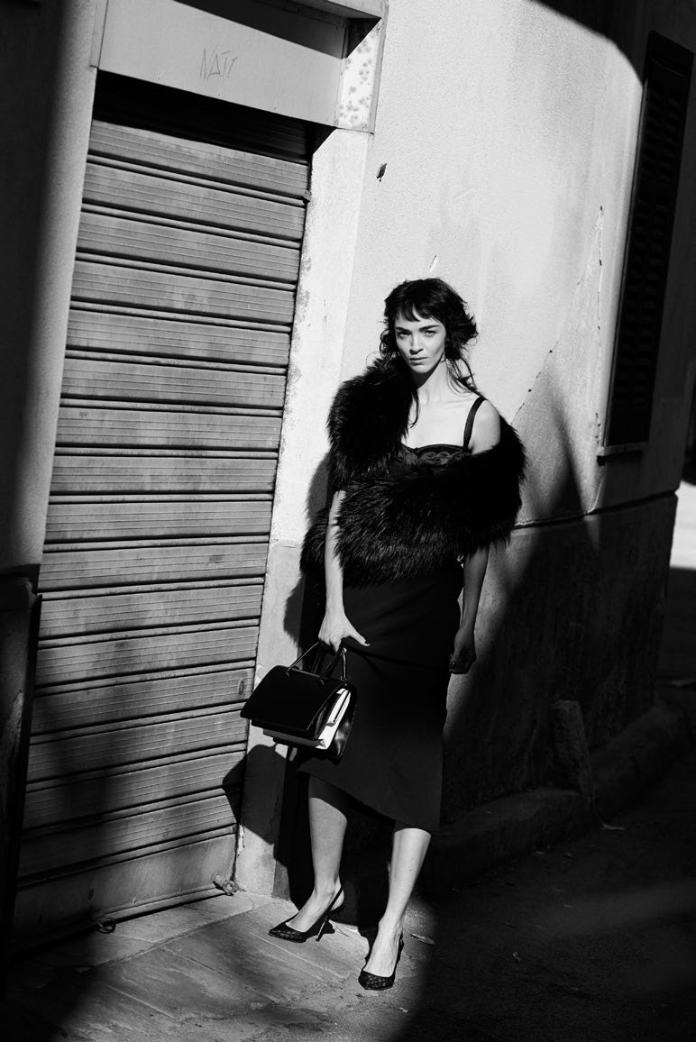 Photo Mariacarla Boscono by Peter Lindbergh for Vogue Italia February 2014