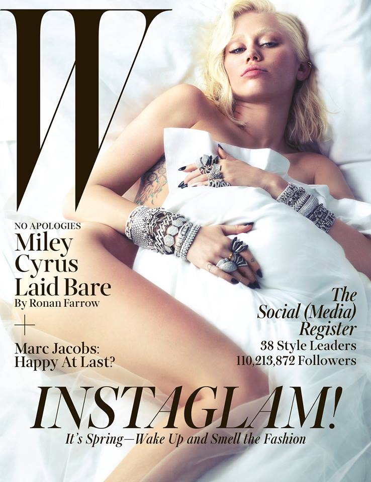 Photo Miley Cyrus for W Magazine March 2014 by Mert & Marcus