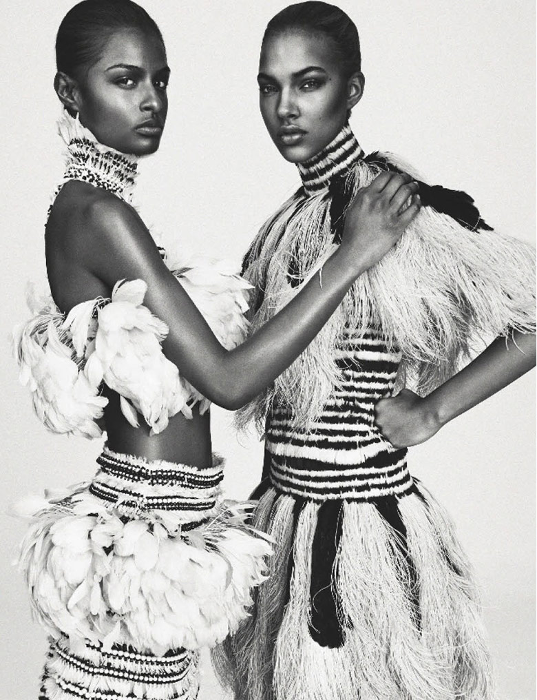 Photo  Josilyn Williams, Maria Borges, Riley M & others for Numero March 2014