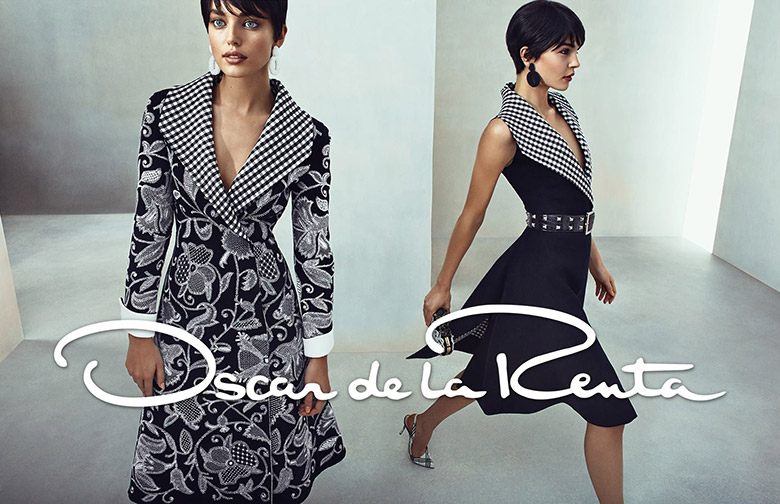 Photo Emily DiDonato & Kate Bogucharskaia for Oscar de la Renta Spring/Summer 2014