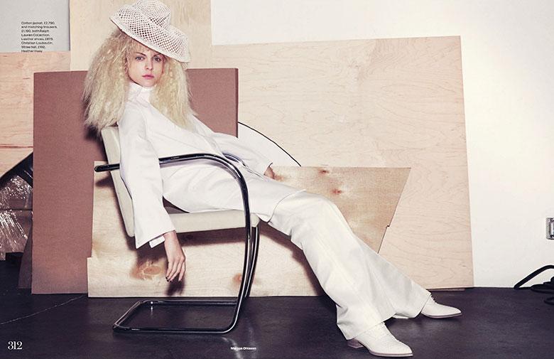 Photo Viktoriya Sasonkina by Marcus Ohlsson for Elle UK March 2014