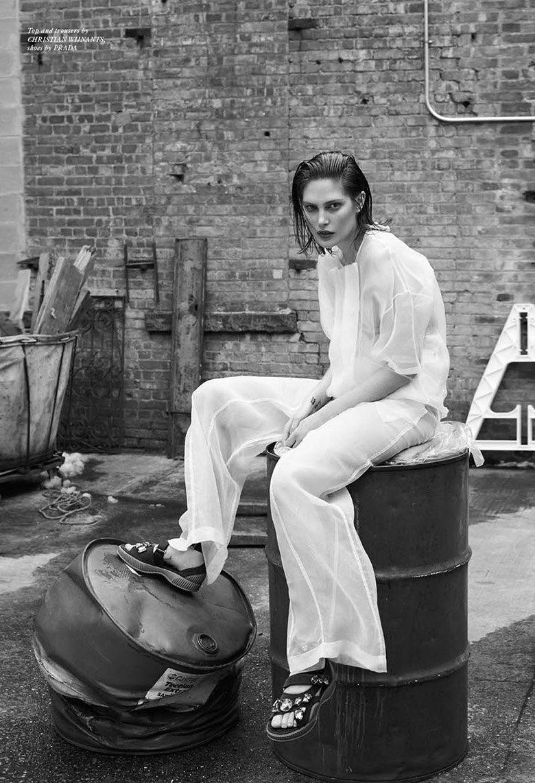 Photo Catherine McNeil goes androgynous chic for Rika Magazine S/S 2014