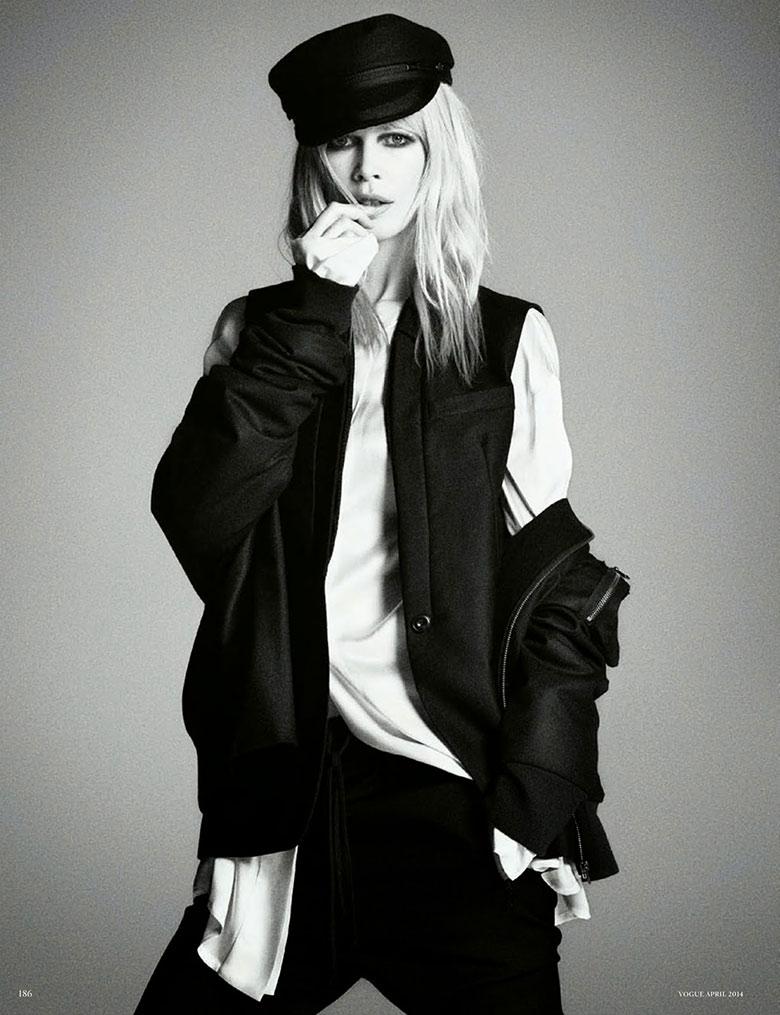 Photo Claudia Schiffer by Daniele + Iango & Luigi for Vogue Germany April 2014