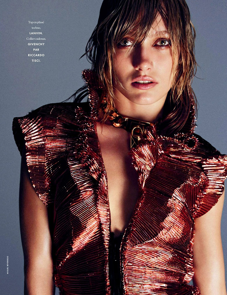 Photo Karmen Pedaru By Miguel Reveriego For Elle France March 2014