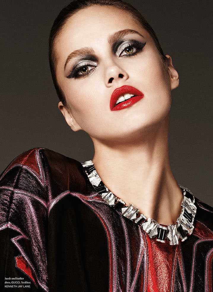 Photo Karmen Pedaru portrays a sophisticated temptress for Vamp Magazine Issue 1