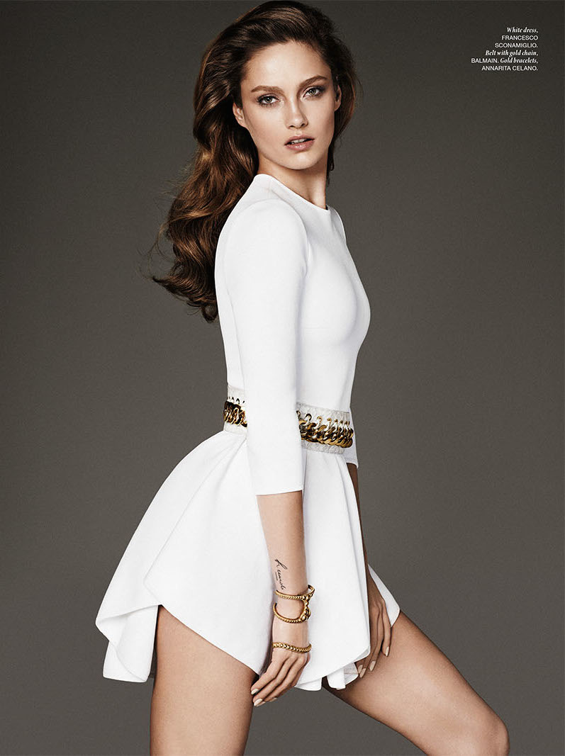 Photo Karmen Pedaru portrays a sophisticated temptress for Vamp Magazine Issue 1