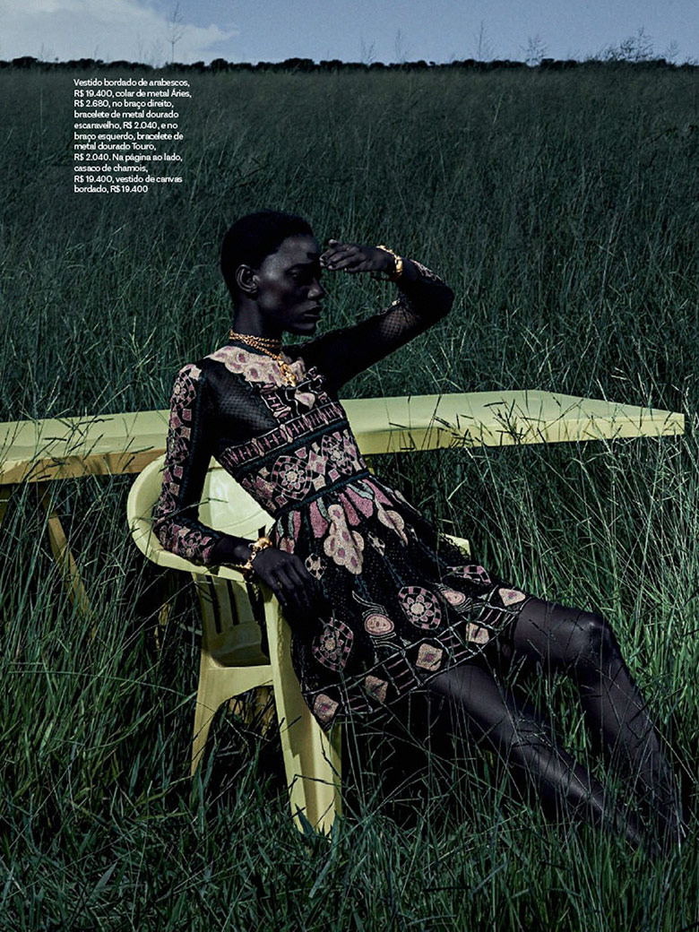 Photo Mariana Calazans reveals her exotic beauty in Vogue Brazil April 2014