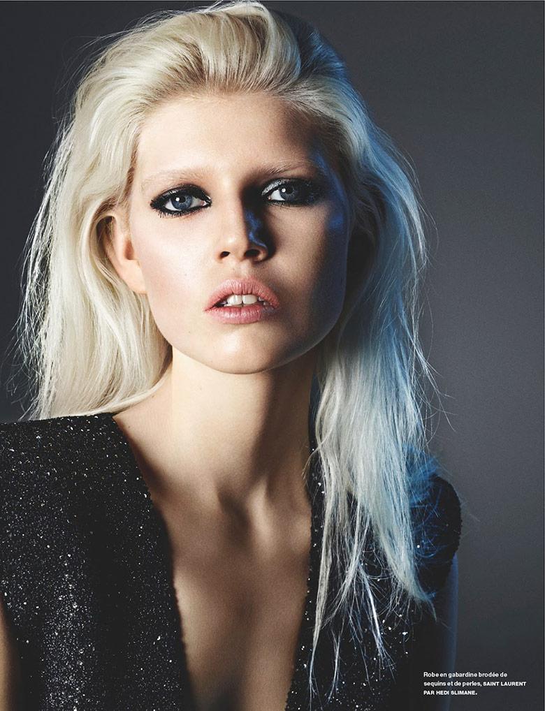 Photo Ola Rudnicka gets glammed up for Numero Magazine April 2014