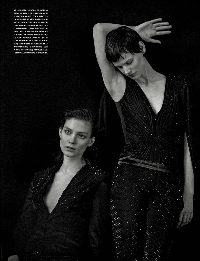 A Unique Attitude by Peter Lindbergh for Vogue Italia March 2014
