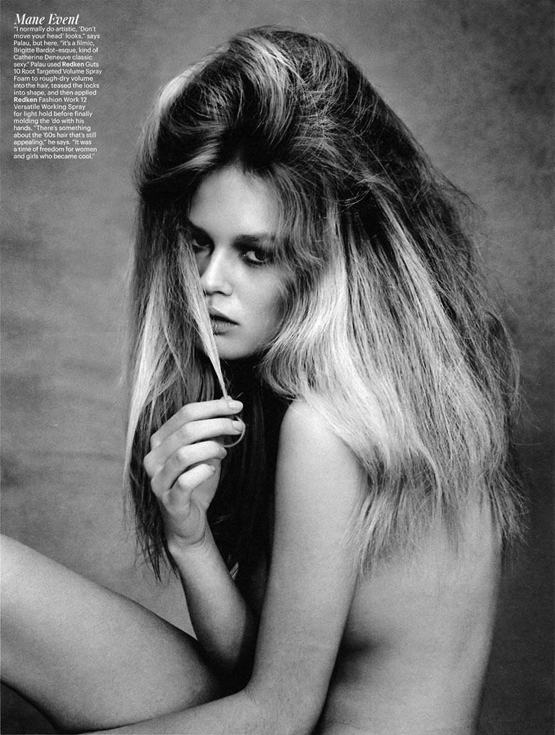 Photo Anna Ewers by Patrick Demarchelier for W May 2014