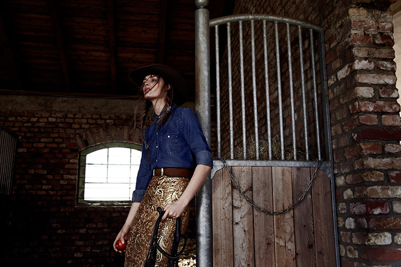 Photo Daga Ziober gets her cowboy hat on for Qvest Magazine Spring 2014