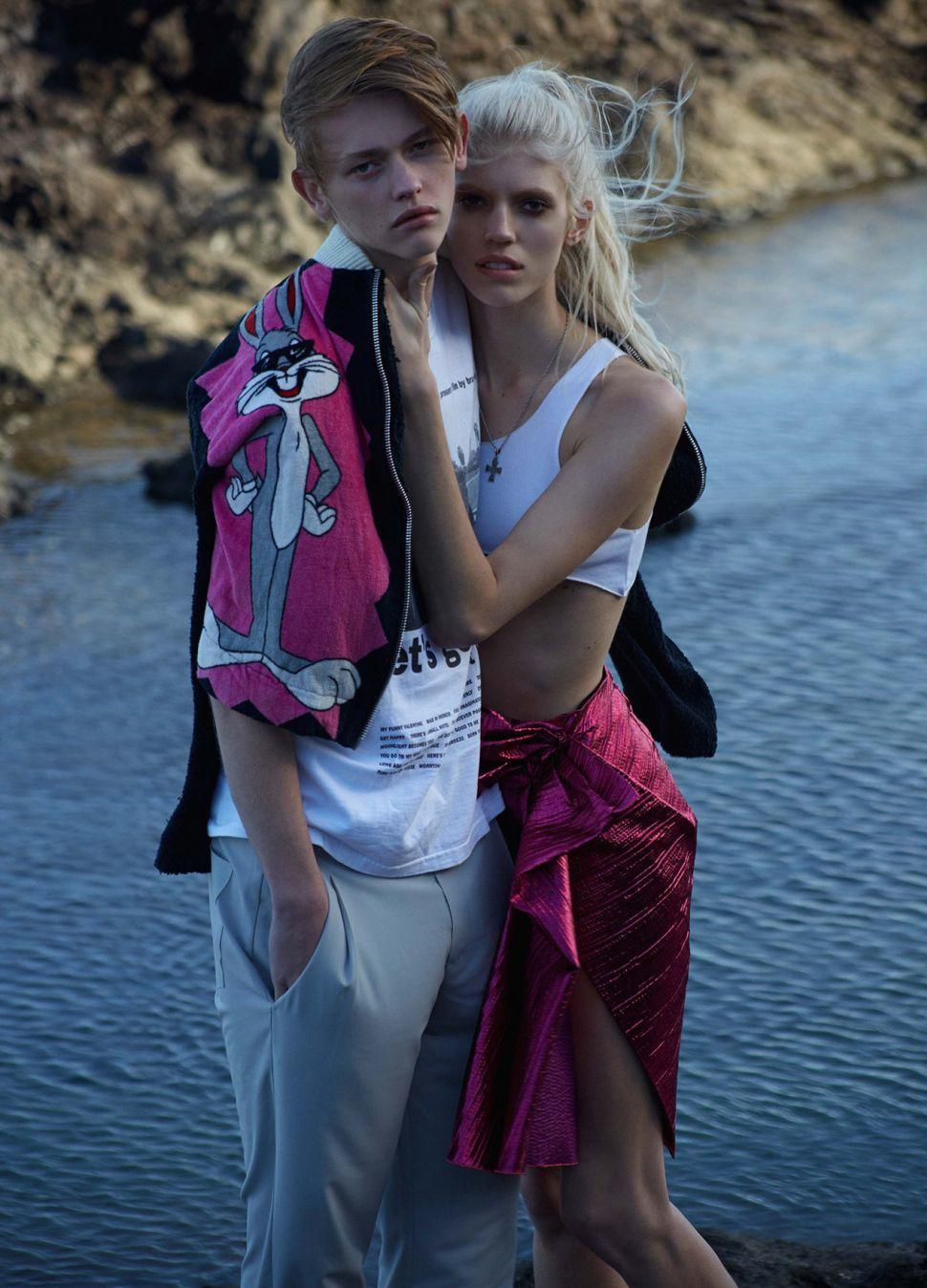 Photo Devon & Robbie goes youthful for Pop Magazine S/S 2014