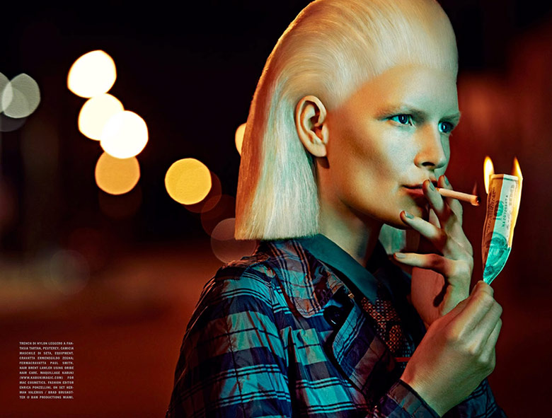 Photo Francesco Carrozzini frames retro futurism for Vogue Italia April 2014