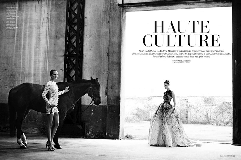 Photo Haute Culture by Stian Foss For LOfficiel Paris April 2014