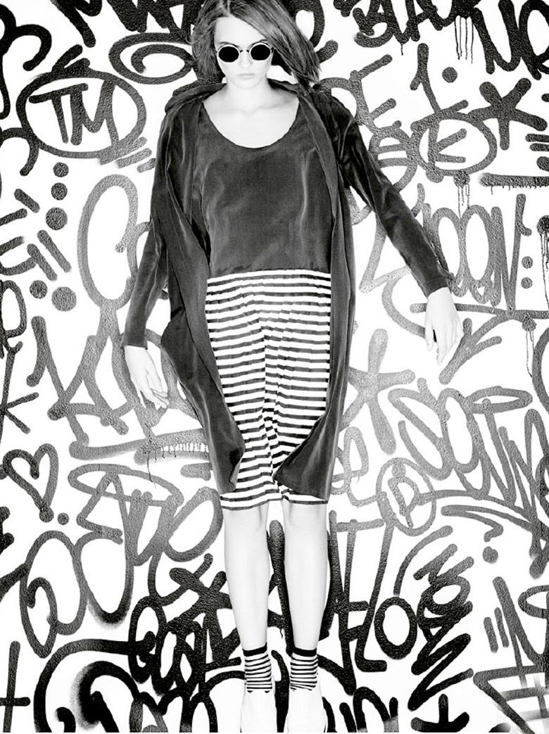 Photo Lara Mullen is captured in Marie Claire's graffiti mania