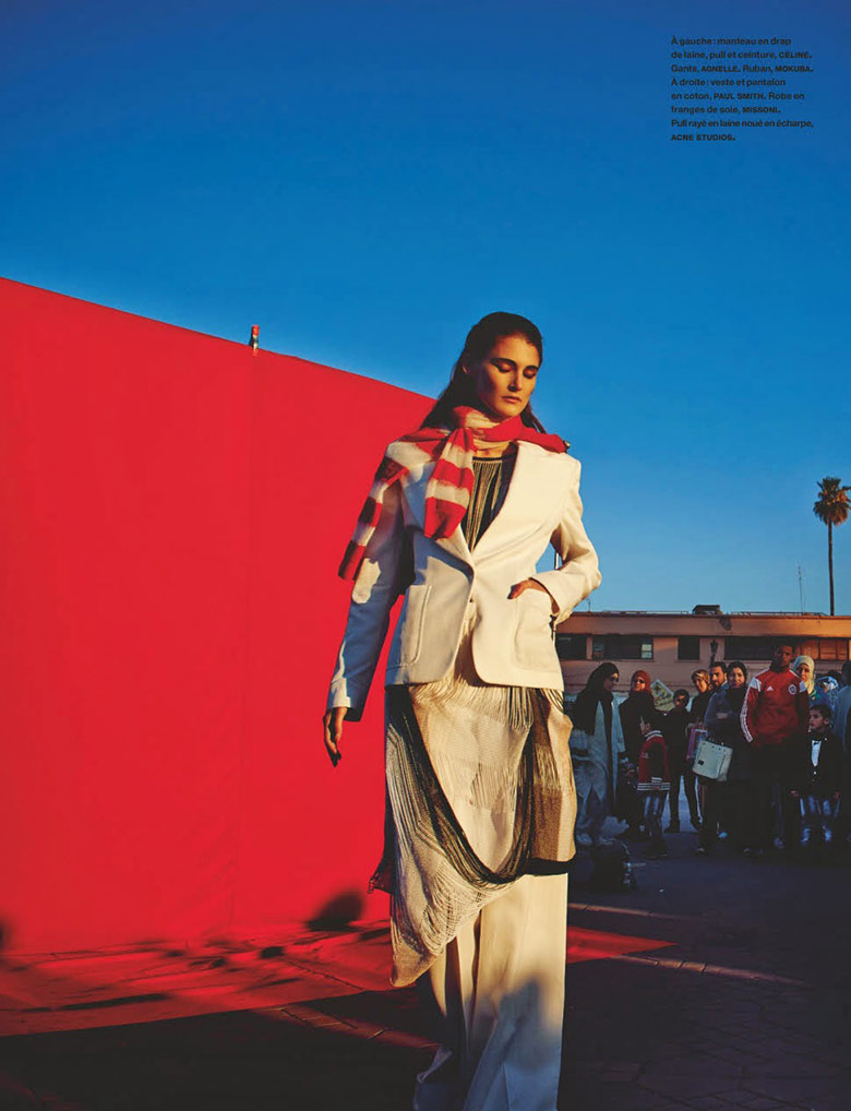 Marie Piovesan, in the heart of Marrakech for Numero May 2014
