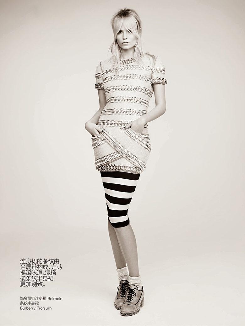 Photo Natasha Poly takes on prints in the Vogue China May 2014