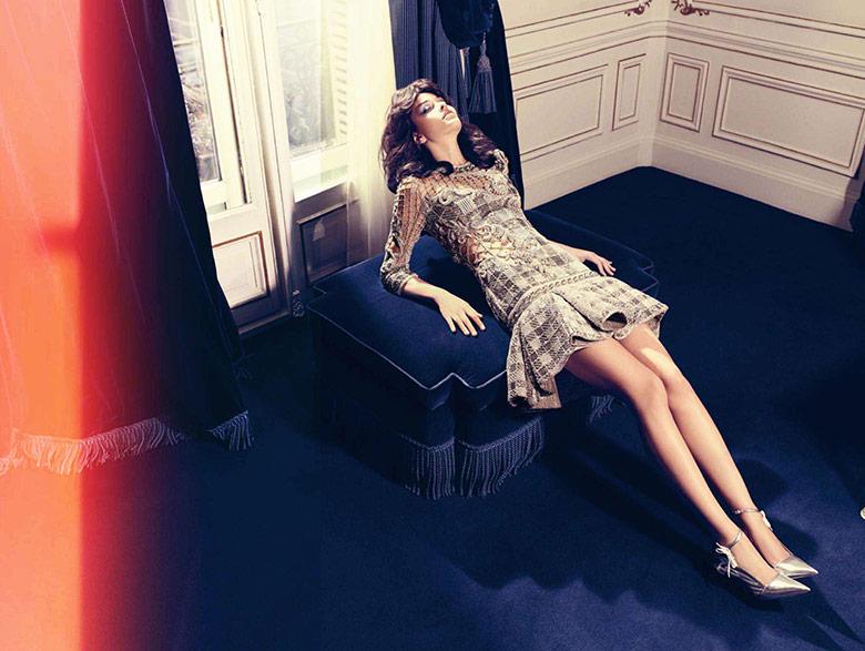 Photo Ana Beatriz Barros in 70's glam for Harper's Bazaar Spain June 2014