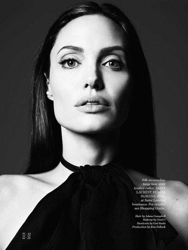 Photo Angelina Jolie by Hedi Slimane for Elle US June 2014