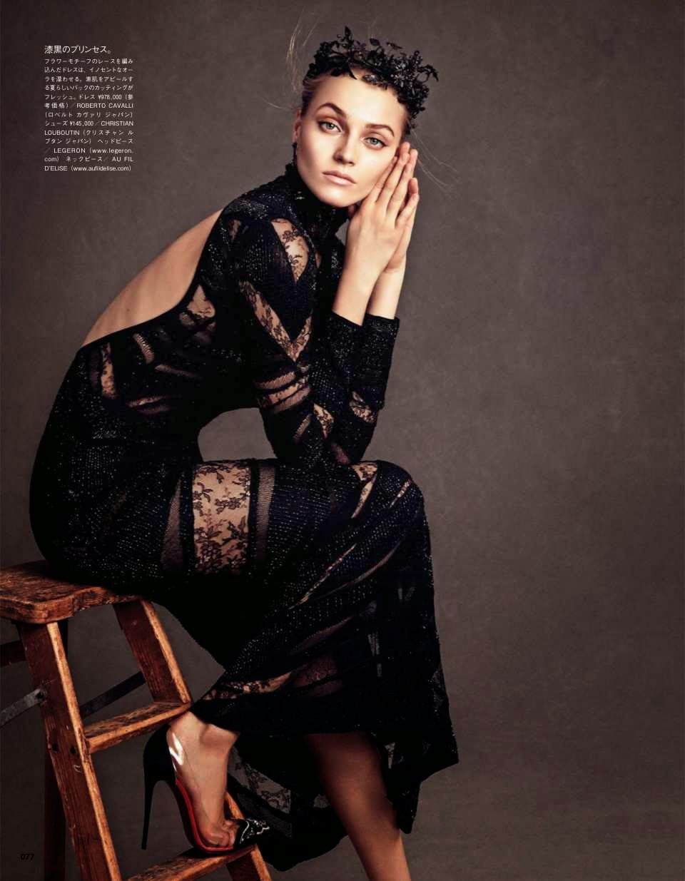 Anna Jagodzinska by Andreas Sjodin for Vogue Japan July 2014