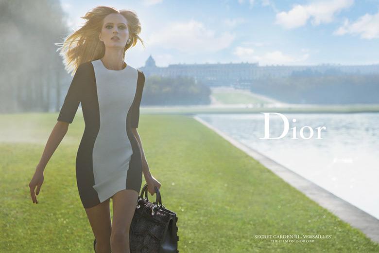 Photo Daria Strokous by Inez & Vinoodh for Dior Secret Garden 3
