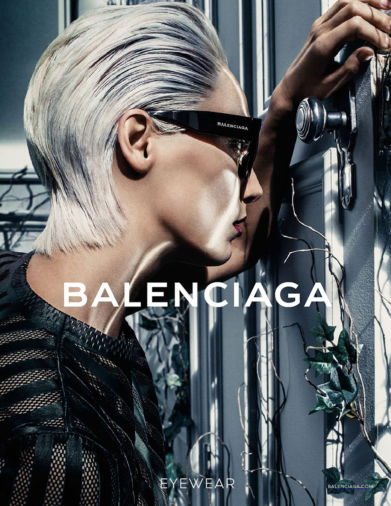 Photo Daria Werbowy for Balenciaga S/S 2014 Eyewear Campaign