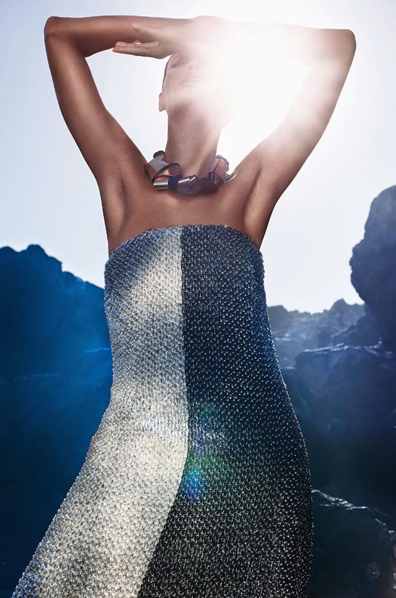 A sparkling Joan Smalls for Vogue Italia May 2014