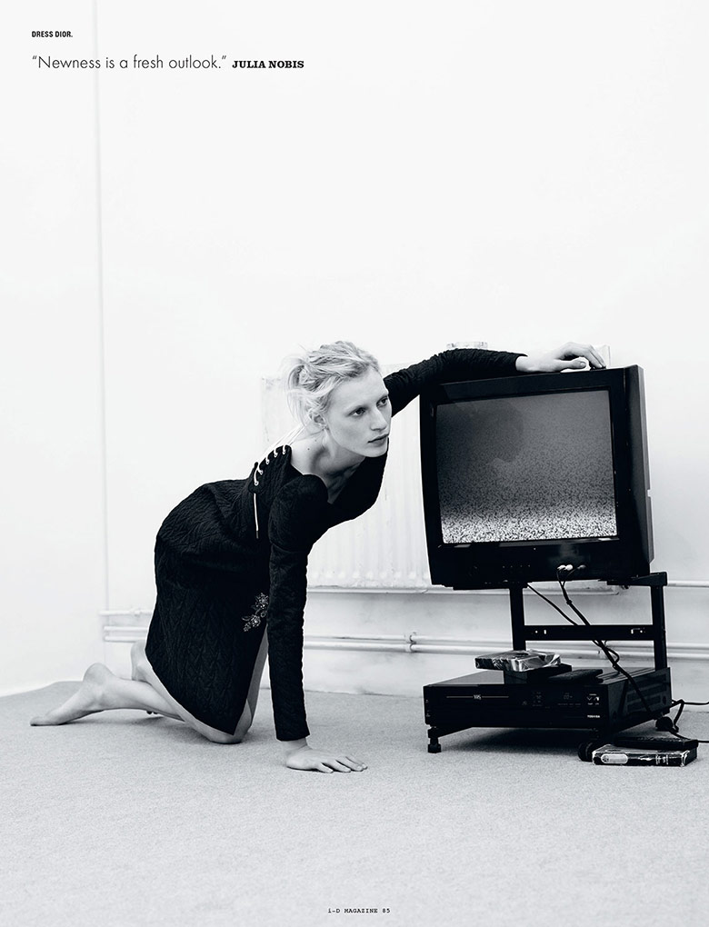 Photo Julia Nobis By Willy Vanderperre for i D Summer 2014