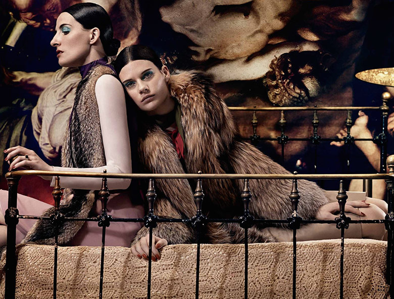 Photo Kim Peers & Querelle Jansen by Craig McDean for Interview May 2014