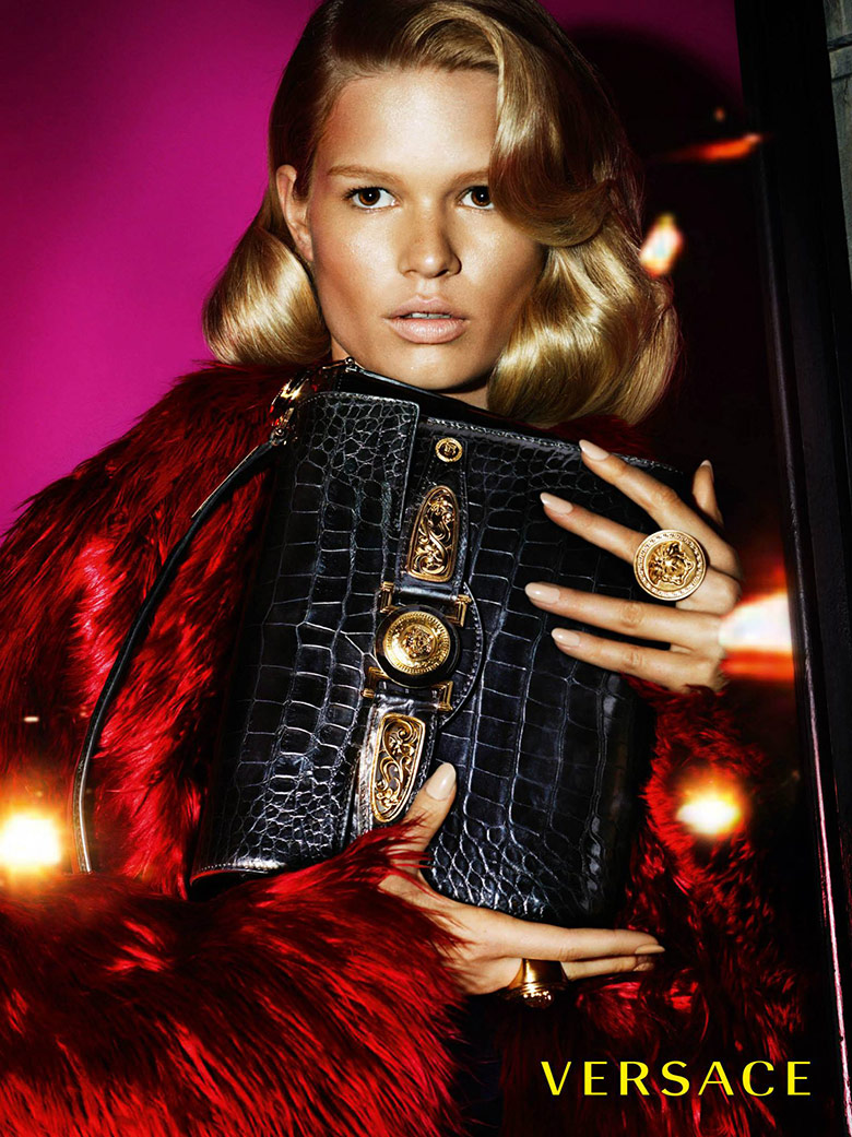 Photo Anna Ewers & Stella Tennant by Mert & Marcus for Versace F/W 14/15