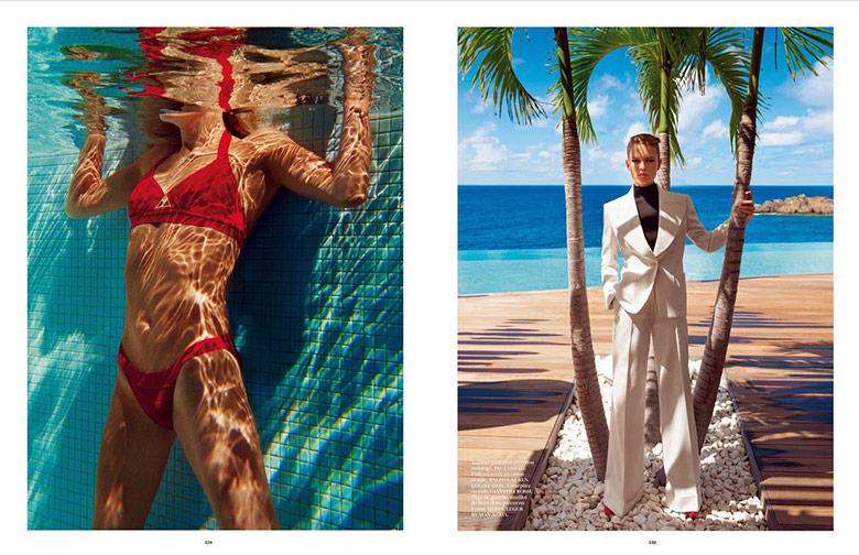 Photo Natasha Poly & Anna Ewers by Inez & Vinoodh for Vogue Paris June/July 2014