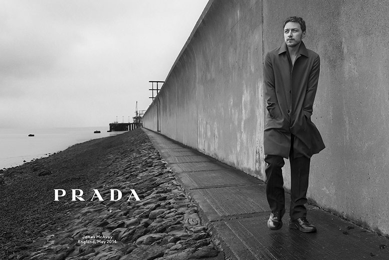 Photo James McAvoy for Prada Menswear Fall/Winter 2014/15 Campaign by Annie Leibovitz