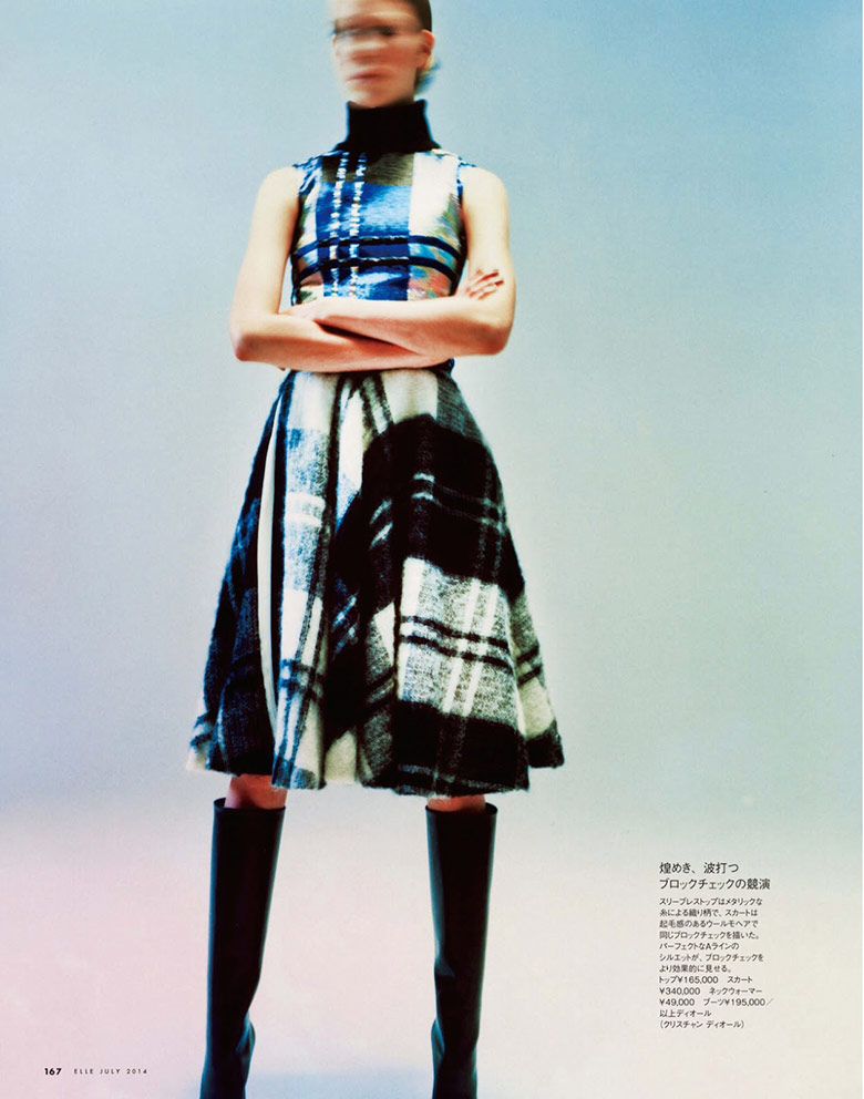 Photo Josefien Rodermans in visual madness for Elle Japan July 2014