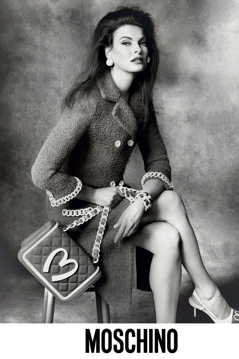 Photo Linda Evangelista by Steven Meisel for Moschino F/W 2014/15