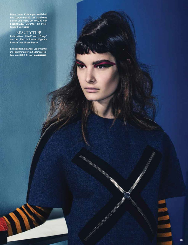 Photo Ophelie Guillermand by Sebastian Kim for Vogue Germany July 2014