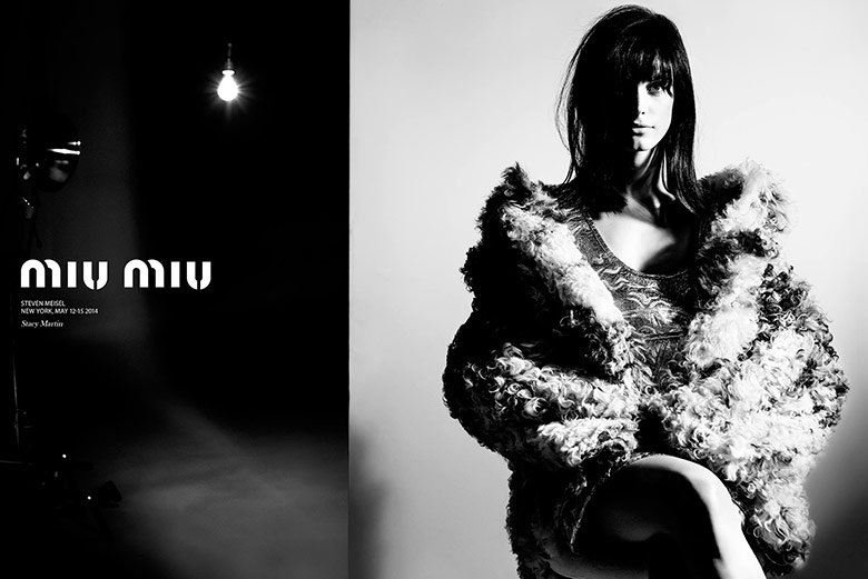 Photo Stacy Martin by Steven Meisel for Miu Miu Fall Winter 2014 2015
