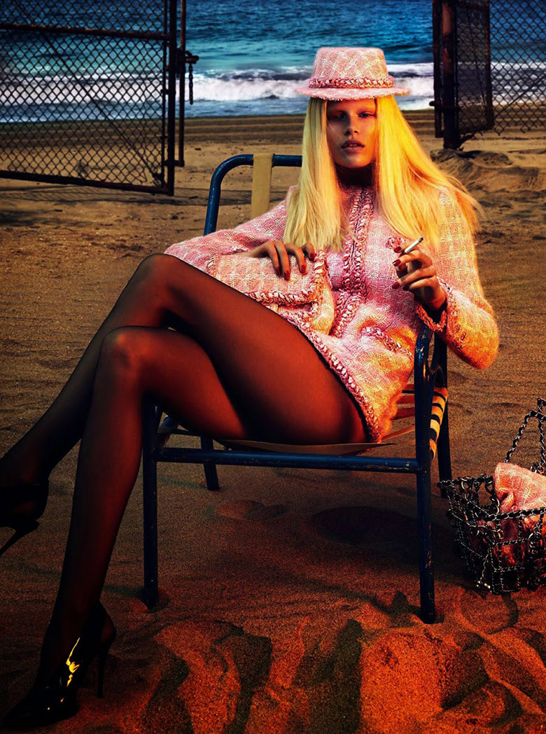 Photo Anna Ewers by Mert & Marcus for Vogue Paris August 2014