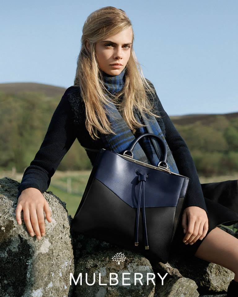 c74d087cdcb3 Cara Delevingne for Mulberry Fall Winter 2014 2015
