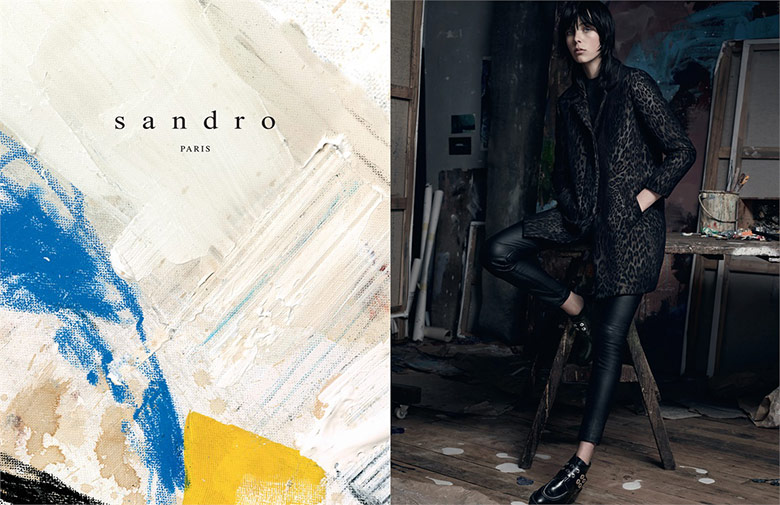 Photo Edie Campbell by Karim Sadli for Sandro Fall/Winter 14/15
