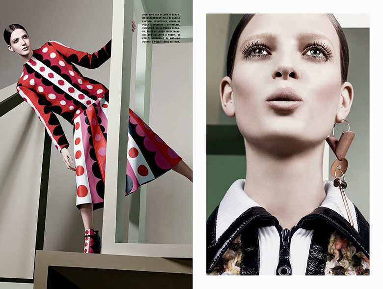 Photo Graphic & Graphic by Craig McDean for Vogue Italia July 2014