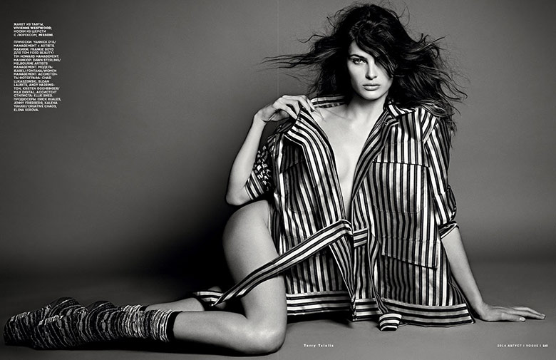 Photo Isabeli Fontana for Vogue Russia August 2014